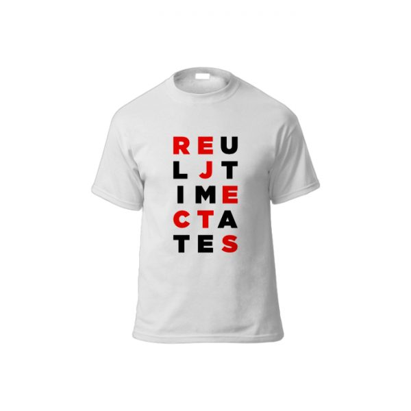 Scrambled Letters Tee Shirt WHITE